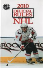 2010 official rules of the nhl book cover