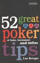 52 great poker tips at home tournament and online book cover