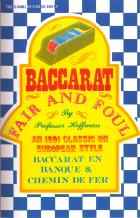 baccarat fair  foul book cover