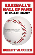 baseball hall of fame or hall of shame book cover