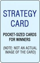 basic strategy card for blackjack book cover