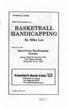 basketball handicapping book cover