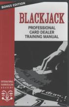 blackjack professional card dealer training manual book cover