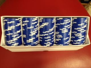 box of 100 blue poker chips book cover