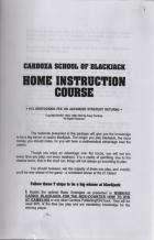 cardoza school of blackjack home instruction course book cover