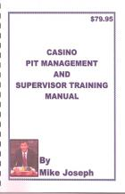 casino pit management and supervisor training manual book cover