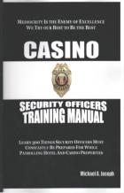 casino security officers training manual book cover