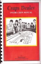 craps dealer instruction manual book cover