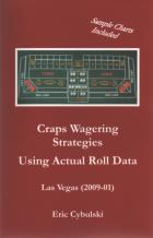 craps wagering strategies using actual roll data book cover