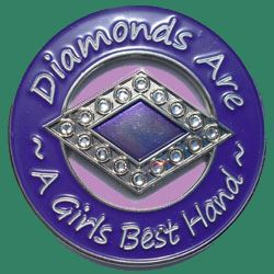 diamonds are a girls best hand spinner book cover