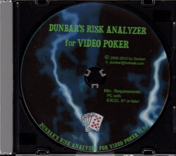 dunbars risk analyzer for video poker book cover