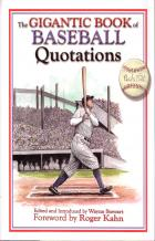 gigantic book of baseball quotations book cover