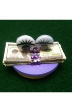 glitzy cash poker card protector book cover