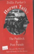 horses talk the paddock  post parade dvd book cover