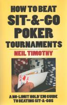 how to beat sitngo poker tournaments book cover