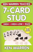 ken warren teaches 7card stud high high low razz book cover