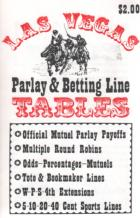 las vegas parlay  betting line tables book cover