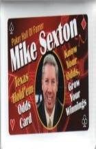 mike sexton texas holdem odds card book cover