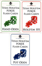 poker flash cards  set of 3 book cover
