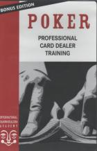 poker professional card dealer training manual dvd book cover