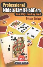 professional middle limit holdem real play hand by hand book cover