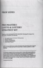 promaster i lotto  lottery strategy kit book cover