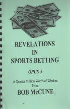 revelations in sports betting opus 5 bob mccune book cover