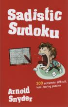 sadistic sudoku 200 extremely difficult puzzles book cover