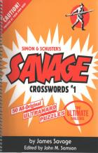 savage crosswords 1 book cover