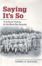 sayin its so cultural history of black sox scandal hardcover book cover