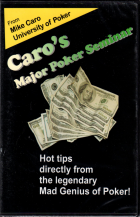 caros major poker seminar book cover